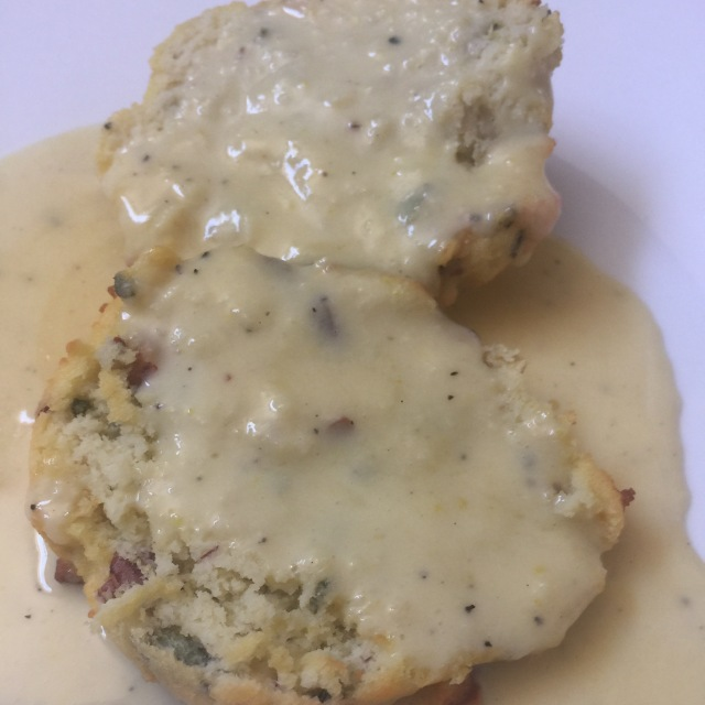 biscuits and duck fat gravy
