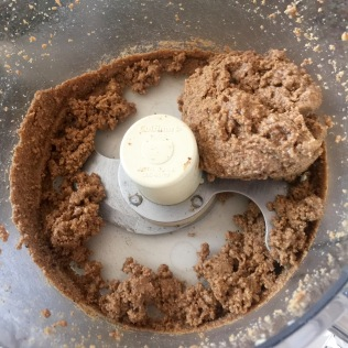 Kept the food processor going until the hazelnuts formed a paste.