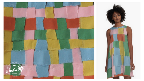 summer weave paper dress