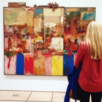 Candace and a Rauschenberg at the SF MoMA