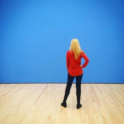 Candace and the Blue Wall at the SF MoMA