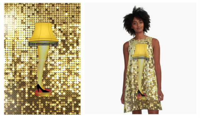 christmas gold leg lamp by gossiprag