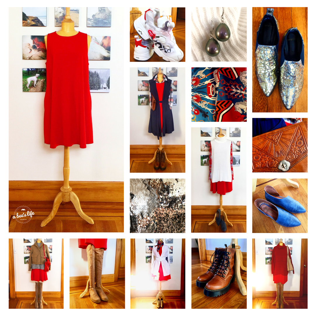 one red dress seven ways