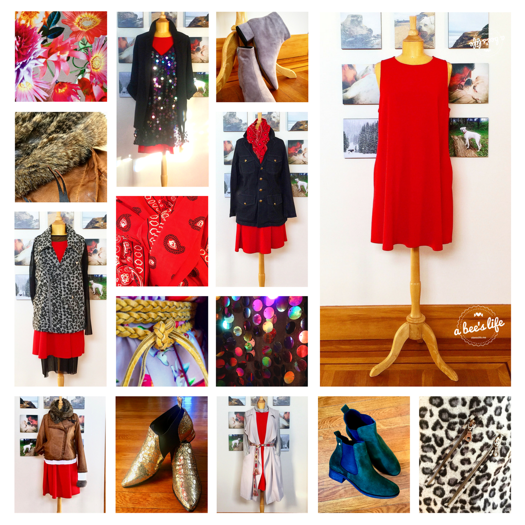 1 red dress 7 ways, part 2